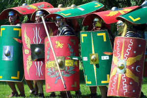 Roman soldiers one lucky guy