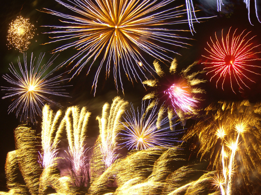 Fireworks in Harlesden, London. Image by Billy Hicks (Own work), via Wikimedia Commons.