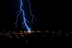 Lightning Strike by Stephen Gilmer via Flickr Commons