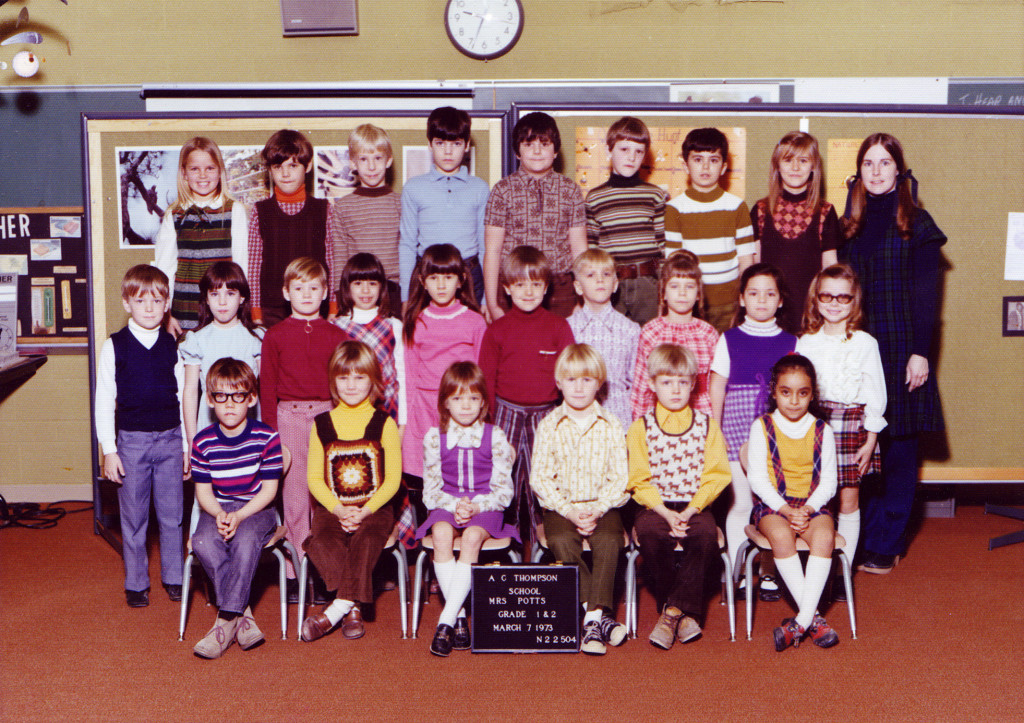 1st Grade 1973 by Andrew Kitzmiller via Flickr Commons