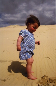 Marlene on the dunes. (Photo courtesy of the author.)